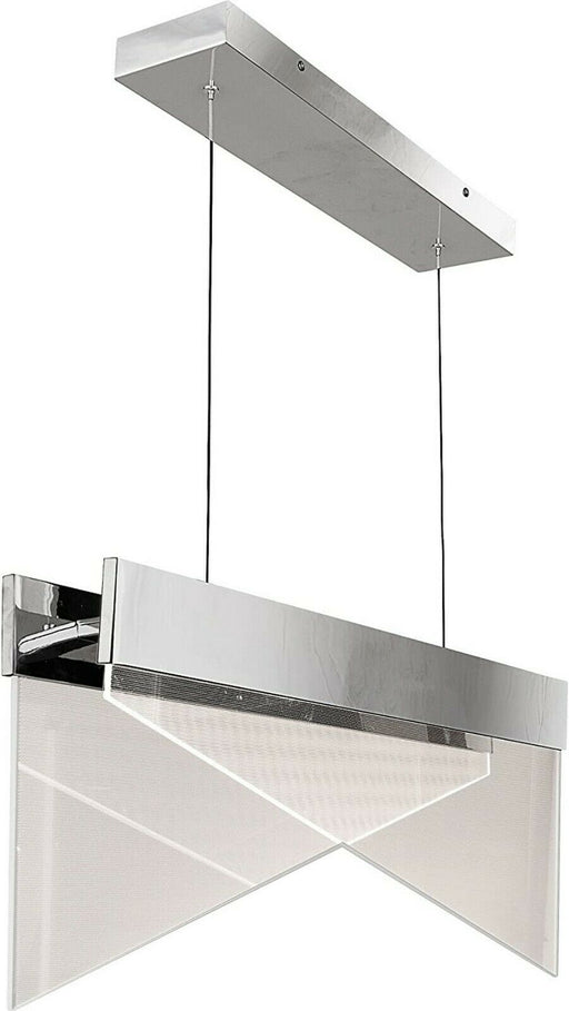 Quoizel Lighting PCIM130C Impulse Collection Integrated LED Hanging Linear Pendant Chandelier in Aluminum Finish