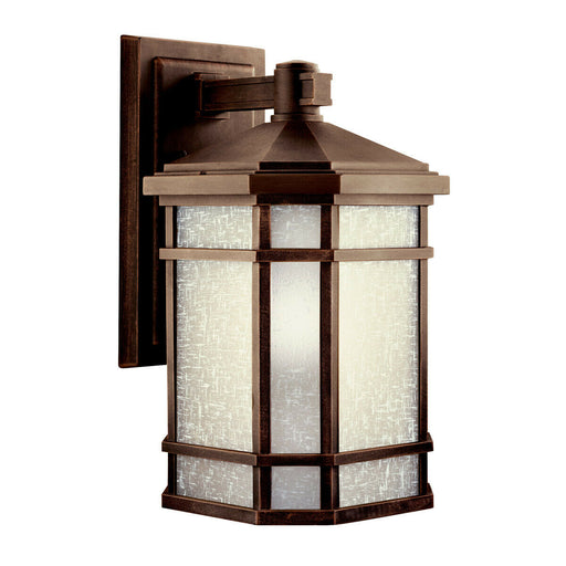 Kichler Lighting 11019PR-LED Prairie Rock Collection One Light LED Exterior Outdoor Wall Lantern in Prairie Rock Finish
