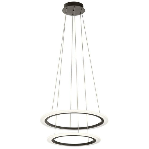 Kichler Lighting 83988 Hyvo Collection Two Ring LED Pendant Chandelier in Bronze Finish
