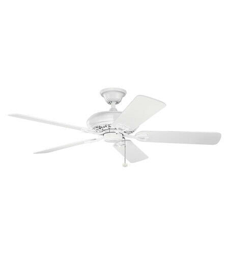 "Kichler Lighting 300118MWH Collection Energy Star 52"" Ceiling Fan in Matte White Finish"