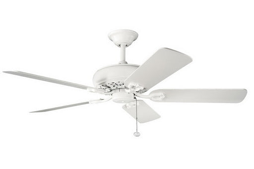Kichler Lighting 300118 SNW Bentzen Collection Ceiling Fan in Satin Natural White Finish - Quality Discount Lighting