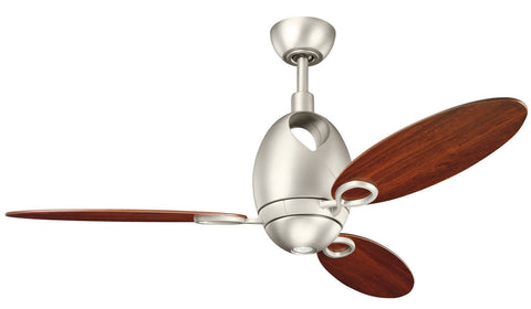 Kichler Lighting 300155 NI7 Merrick Collection Ceiling Fan in Brushed Nickel Finish - Quality Discount Lighting
