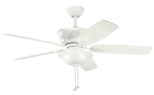 Kichler Lighting 300159 SNW Tolkin Collection Ceiling Fan in Satin Natural White Finish - Quality Discount Lighting