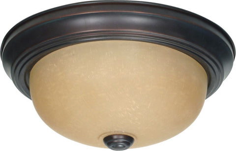 Nuvo Lighting 60-3105 Signature Collection Two Light Energy Star Efficient GU24 Flush Ceiling Mount in Mahogany Bronze Finish