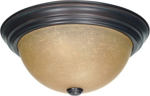 Nuvo Lighting 60-3106 Signature Collection Two Light Energy Star Efficient GU24 Flush Ceiling Mount in Mahogany Bronze Finish
