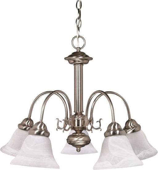 Nuvo Lighting 60-3180 Ballerina Collection Five Light Energy Star Efficient GU24 Hanging Chandelier in Brushed Nickel Finish