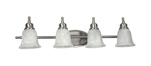 AFX 320219-LED Four Light Energy Efficient Bath Vanity Wall Mount in Satin Nickel Finish