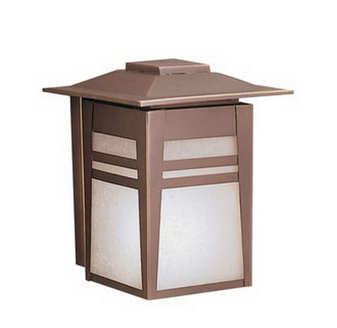 Aluche by Kichler Lighting 431200-LED Gatewood Collection One Light Mission Style Exterior Outdoor Wall Mount in Old Bronze Finish