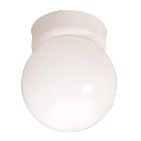Kichler Lighting 32102 WH One Light Flush Ceiling Fixture in White Finish - Quality Discount Lighting