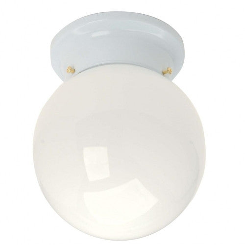 Kichler Lighting 32104 WH One Light Flush Ceiling Fixture in White Finish - Quality Discount Lighting