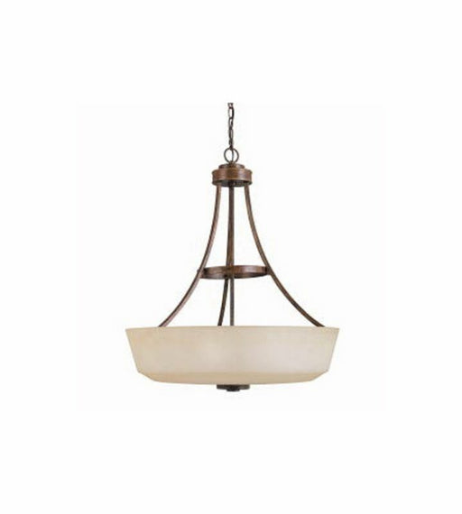 Kichler Lighting 3251 WSG Berwick Collection Three Light Hanging Bowl Pendant Chandelier in Weathered Sage Finish