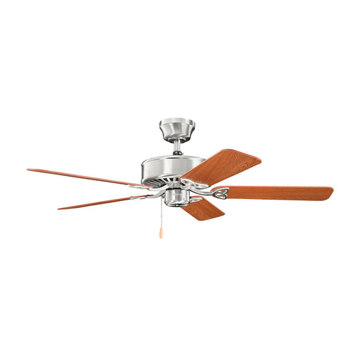 "Kichler Lighting 330100BSS Renew Collection 50"" Ceiling Fan in Brushed Stainless Steel Finish"