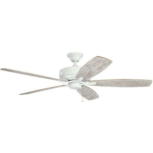 "Kichler Lighting 330249MWH Terra  Collection Energy Star 60"" Ceiling Fan in Matte White Finish"
