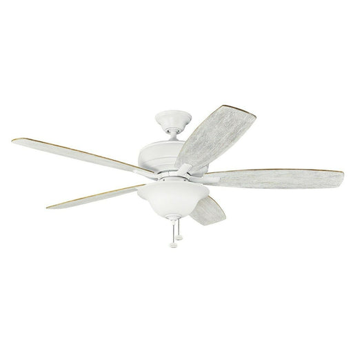"Kichler Lighting 330250MWH Terra  Collection Energy Star 60"" Ceiling Fan in Matte White Finish"