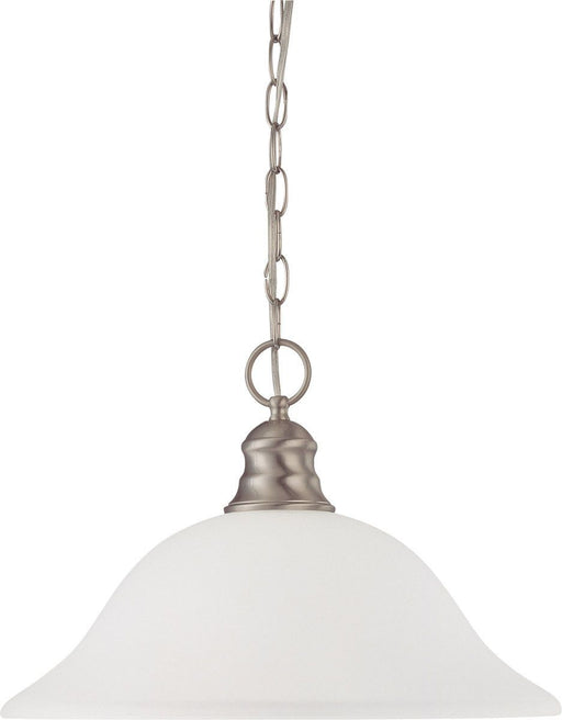 Nuvo Lighting 60-3308 Signature Collection One Light Energy Star Efficient GU24 Hanging Pendant Chandelier in Brushed Nickel Finish