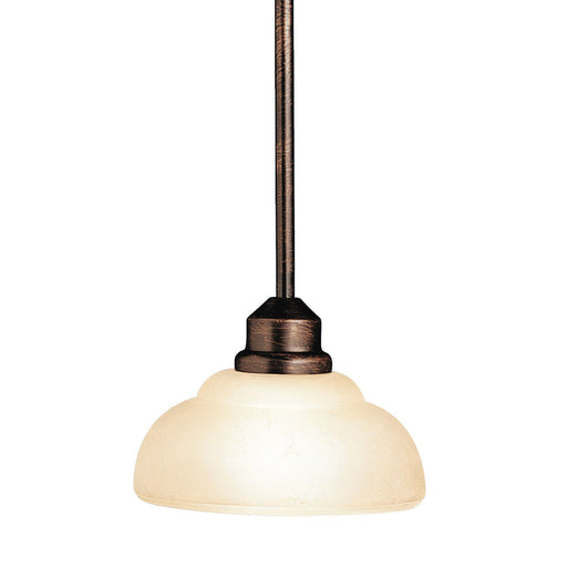 Aztec 34901 by Kichler Lighting Columbiana Collection One Light Hanging Mini Pendant in Olde Auburn Finish