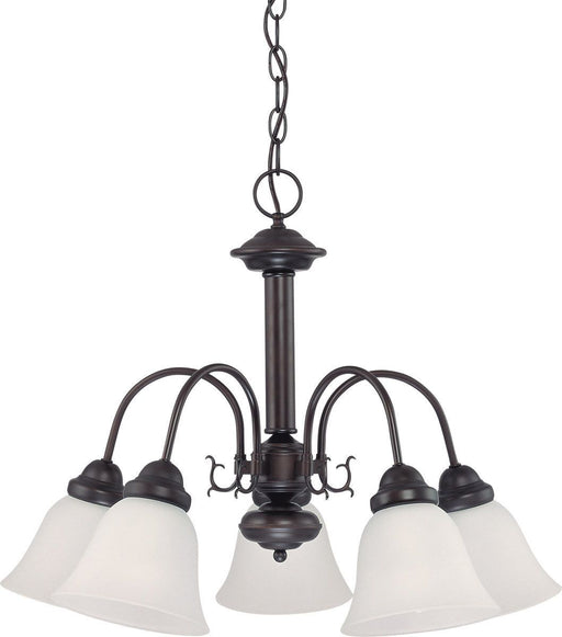 Nuvo Lighting 60-3331 Ballerina Collection Five Light Energy Star Efficient GU24 Hanging Chandelier in Mahogany Bronze Finish