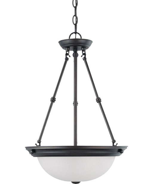 Nuvo Lighting 60-3342 Signature Collection Three Light Energy Star Efficient GU24 Hanging Pendant Chandelier in Mahogany Bronze Finish