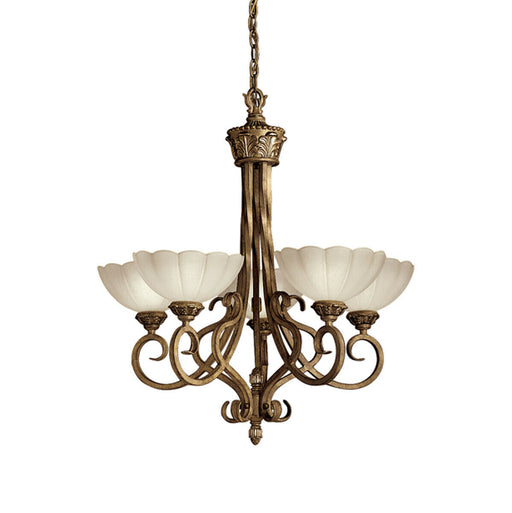 Aztec by Kichler Lighting 34459 Moonflower Collection Five Light Hanging Chandelier in Brulee Finish