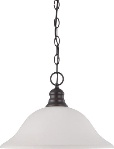Nuvo Lighting 60-3363 Signature Collection One Light Energy Star Efficient G24 Hanging Pendant in Mahogany Bronze Finish