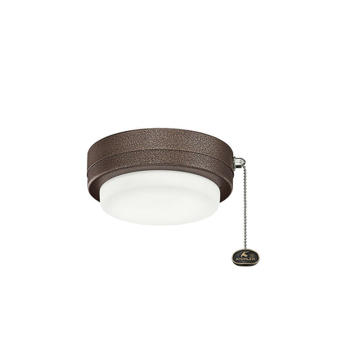 Kichler Lighting 338529WCP LED Signature Ceiling Fan Light Kit in Weathered Copper Finish