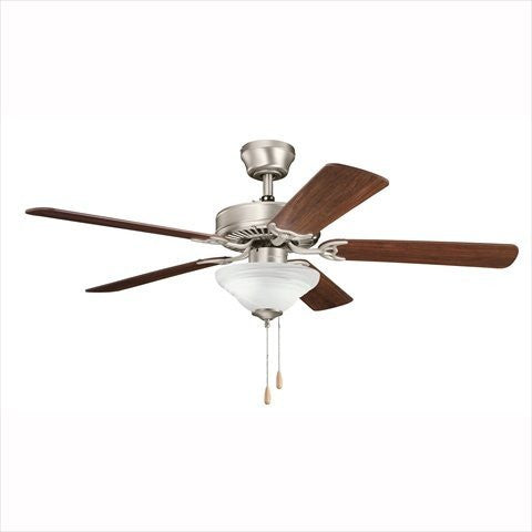 Kichler Lighting 339220N17 Sterling Manor Select Energy Star Ceiling Fan in Brushed Nickel Finish - Quality Discount Lighting