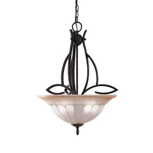 Aztec 34099 by Kichler Lighting Three Light Hanging Pendant Chandelier in Tannery Bronze Finish