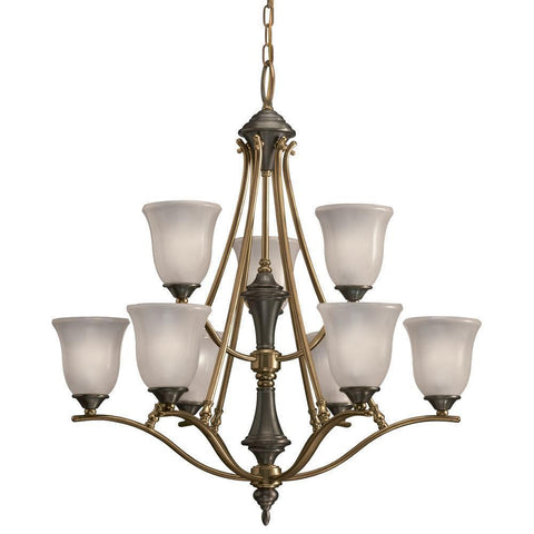 Aztec 34246 by Kichler Lighting Nine Light Hanging Chandelier in Royal Bronze Finish - Quality Discount Lighting