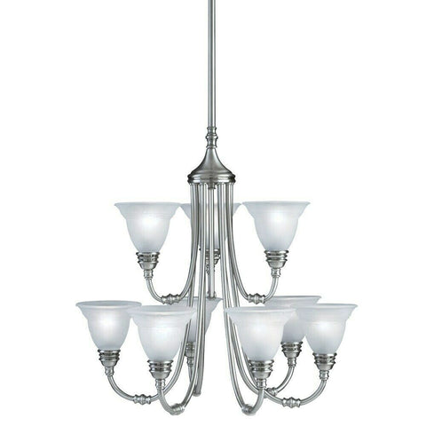 Aztec by Kichler Lighting 34250 Nine Light Hanging Chandelier in Antique Pewter Finish