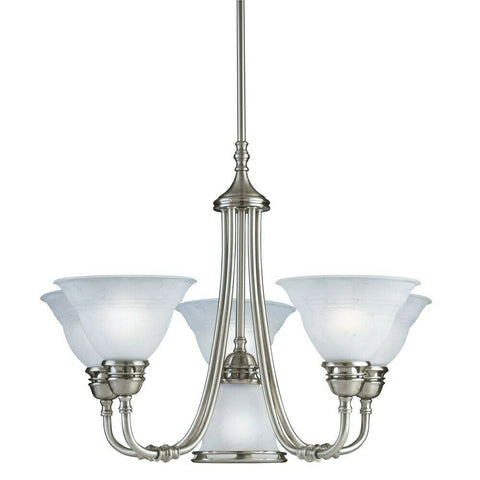 Aztec by Kichler Lighting 34251 Five Plus One Light Hanging Chandelier in Antique Pewter Finish