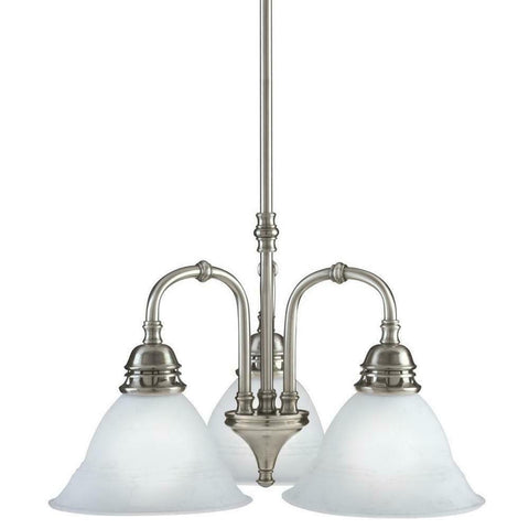 Aztec by Kichler Lighting 34252 Three Light Hanging Pendant Chandelier in Antique Pewter Finish