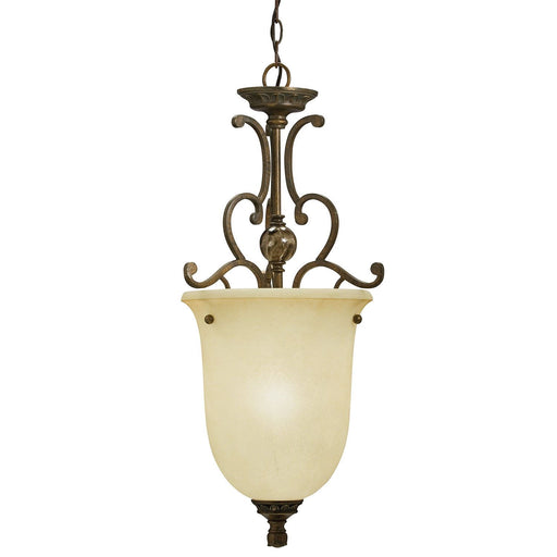 Aztec 34352 by Kichler Lighting One Light Hanging Pendant Chandelier in Golden Bronze Finish
