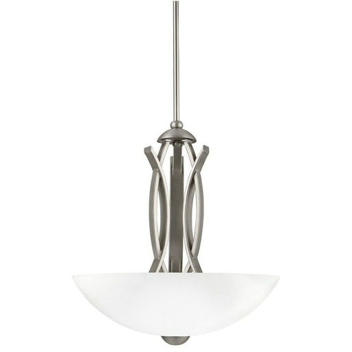 Aztec by Kichler Lighting 34422 Three Light Contemporary Hanging Pendant Chandelier in Brushed Nickel Finish