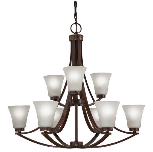 Aztec by Kichler Lighting 34423 Nine Light Energy Star Efficient Chandelier in Oil Rubbed Bronze Finish