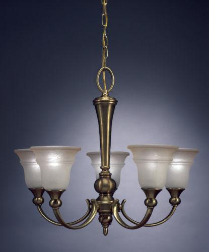 Aztec 34445 by Kichler Lighting Five Light Hanging Chandelier in Royal Bronze and Antique Brass Finish