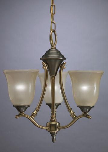 Aztec 34448 by Kichler Lighting Three Light Hanging Chandelier in Royal Bronze and Antique Brass Finish