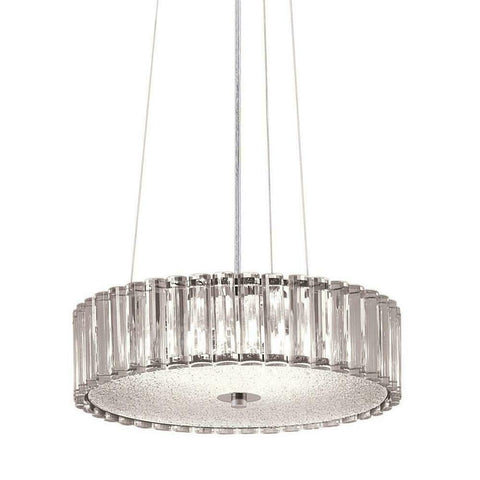 Aztec by Kichler Lighting 34528 Four Light Contemporary Hanging Pendant Chandelier in Chrome Finish