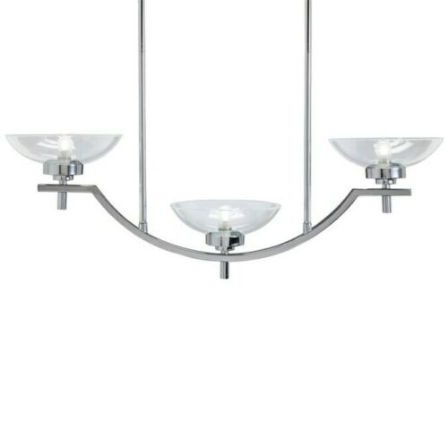 Aztec by Kichler Lighting 34544 Three Light Contemporary Hanging Linear Pendant Chandelier in Polished Chrome Finish