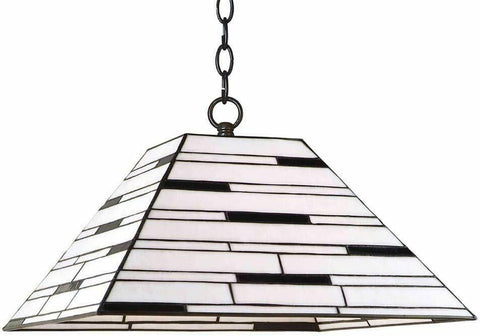 Aztec 34584 by Kichler Lighting Tiffany Style One Light Hanging Pendant in Bronze Finish