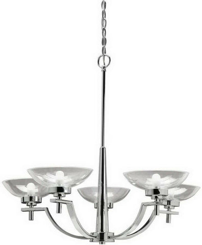 Aztec by Kichler Lighting 34634 Five Light Contemporary Hanging Chandelier in Chrome Finish