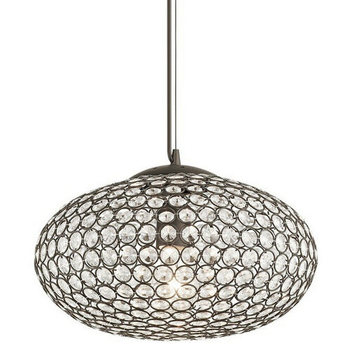 Kichler Lighting 34795 Krystal Ice Collection Oval One Light Hanging Pendant in Olde Bronze Finish