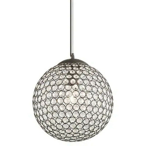 Kichler Lighting 34797 Krystal Ice Collection One Light Hanging ORB Pendant in Olde Bronze Finish