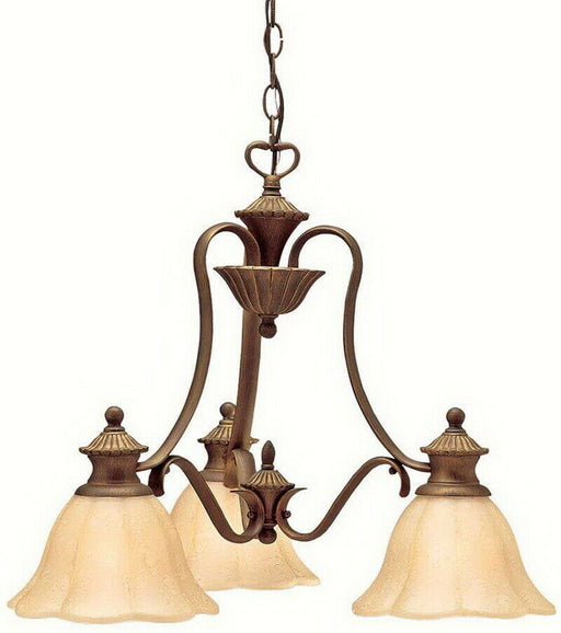 Aztec 34898 by Kichler Lighting Kempton Park Three Light Hanging Chandelier in Parisian Bronze Finish