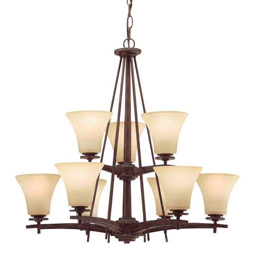 Aztec 34960 by Kichler Lighting Ashton Collection Nine Light Hanging Chandelier in Canyon Slate Finish