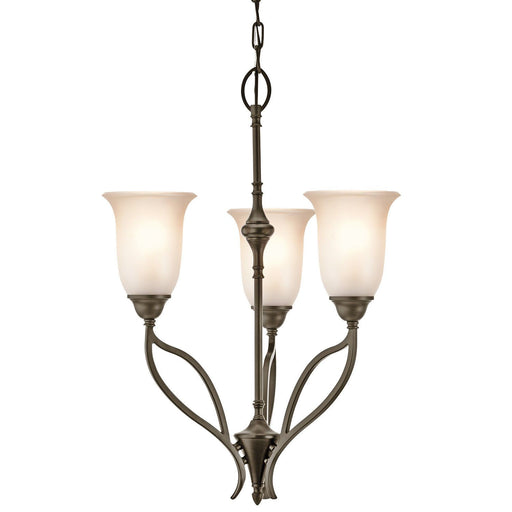 Aztec 34969 by Kichler Lighting Wayland Collection Three Light Chandelier in Shadow Bronze Finish