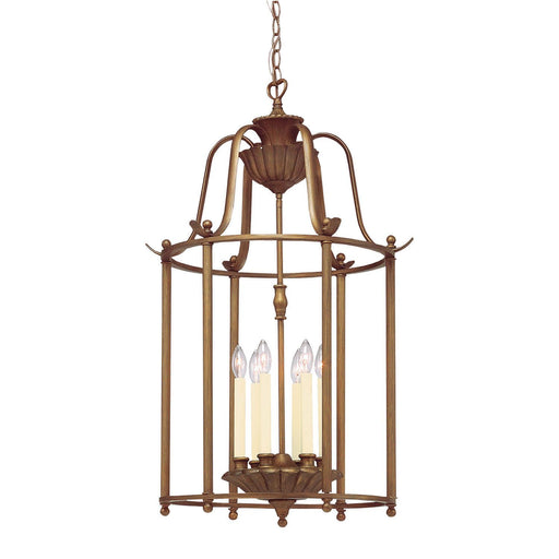 Aztec 34998 by Kichler Lighting Six Light Hanging Pendant Chandelier in Parisian Bronze Finish