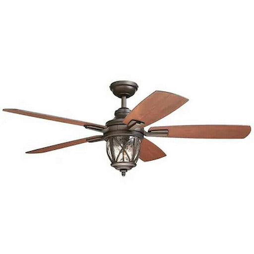 Kichler Lighting 35107 Castine Collection 52 Inch Indoor or Patio Ceiling Fan in Aged Bronze Finish