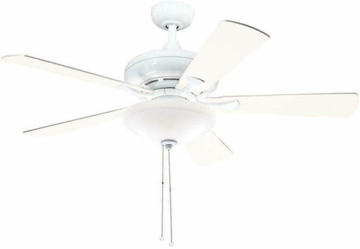 "Aztec by Kichler Lighting 35118 -  52"" Ceiling Fan with Light in White Finish with White and Maple Blades"