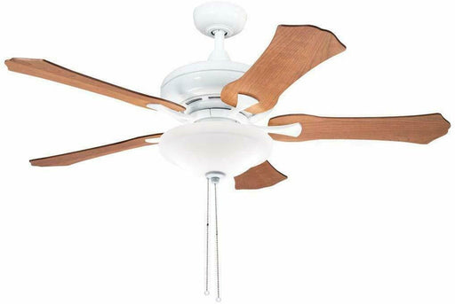 "Aztec by Kichler Lighting 35120 -  52"" Ceiling Fan with Light in White Finish with Cherry and Walnut Blades"