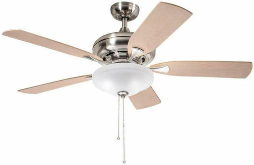 "Aztec by Kichler Lighting 35146 -  52"" Ceiling Fan with Light in Brushed Nickel Finish with Oak and Maple Blades"